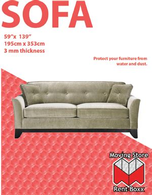 sofa cover for moving sofa cover 45 quot x 152 quot 2 mil the moving store 174 rent a