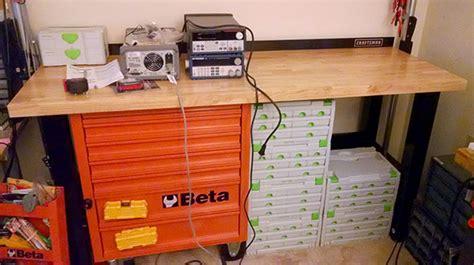 garage organization ta size matters how big should a workbench be