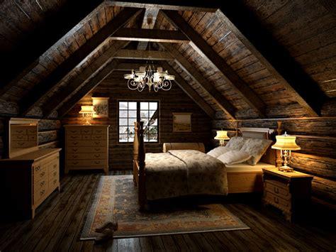 bedroom   attic cgtrader