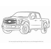 Learn How To Draw Ford F 150 Truck Trucks Step By
