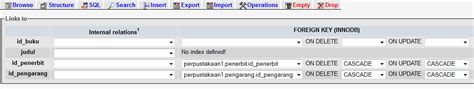 membuat foreign key di phpmyadmin cara membuat relasi antar tabel database di phpmyadmin