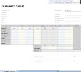 Excel Time Sheet Template by Wb Weekly Timesheet Template
