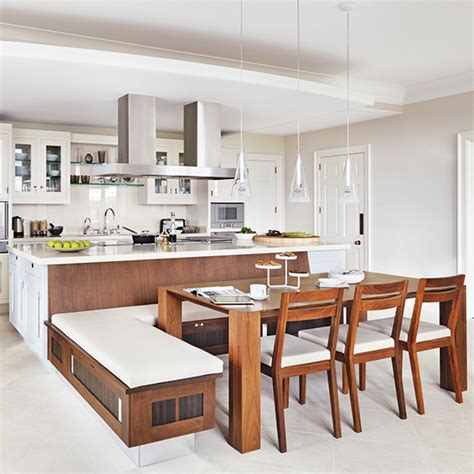 kitchen island with bench seating a place to sit which booths and integrated kitchen seating are best for your kitchen