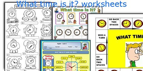 teaching worksheets what time is it