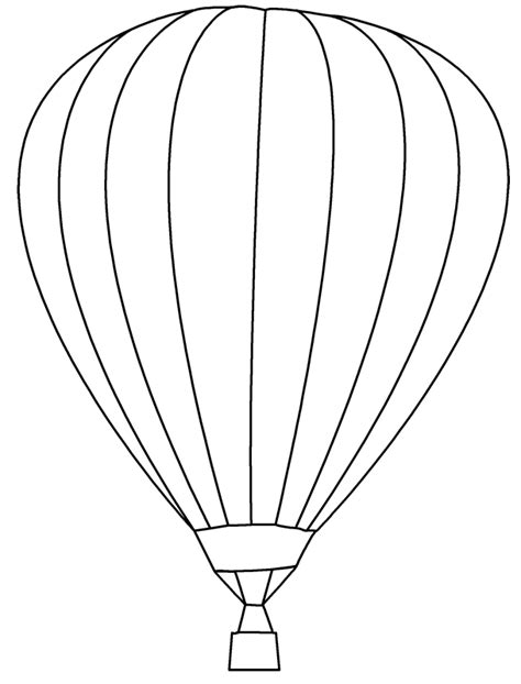 flying hot air balloons coloring pages for kids