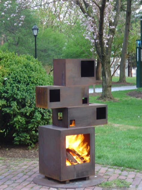Outdoor Metal Fireplaces - prometheus outdoor fireplace by stephen simantiras at coroflot com