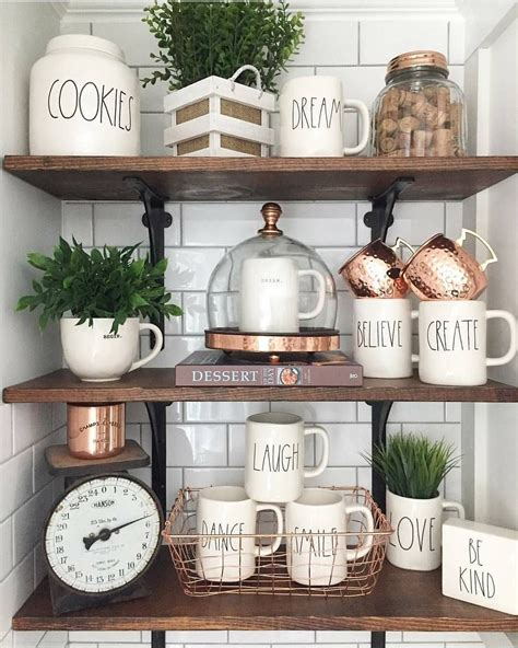 mixed copper collection plants eye catching kitchen