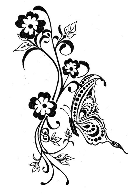 black floral tattoo designs butterfly tattoos designs ideas and meaning tattoos for you