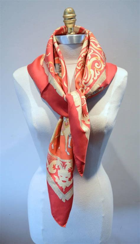 hermes vintage la presentation silk scarf in for sale