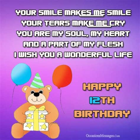 12 Wishes Of - happy 12th birthday wishes occasions messages