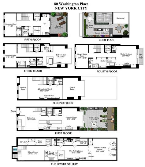 townhouse floorplans floor plans converted townhouse in greenwich village in