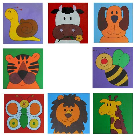 cuadros infantiles animales elha cuadros infantiles