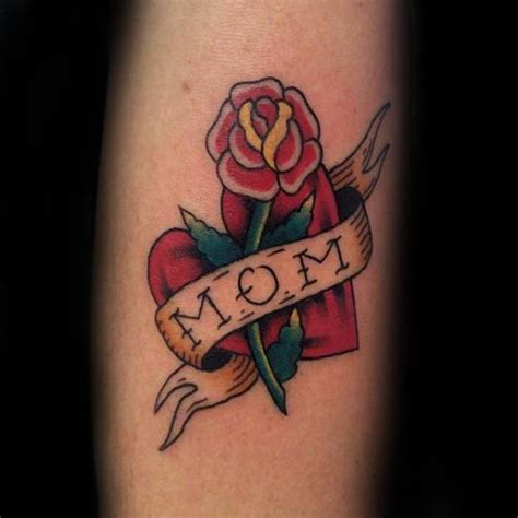 mom rose tattoos 40 traditional designs for memorial ideas