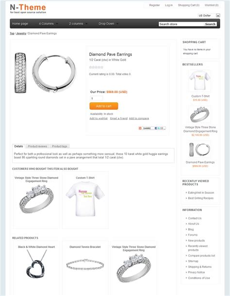 nopcommerce template jewelry 1 90 new