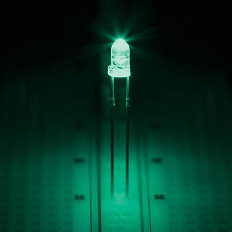 Led Aqua 3mm Aqua Led 505 Nm 18 Degree Viewing Angle Through Leds Component Leds