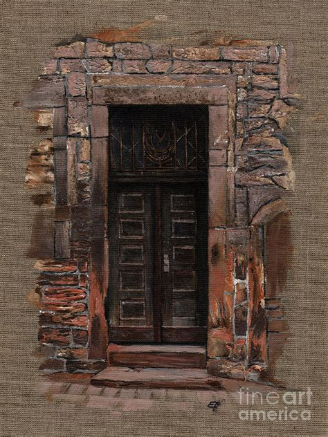Duvet Buy Online Venetian Door 02 Elena Yakubovich Painting By Elena Yakubovich