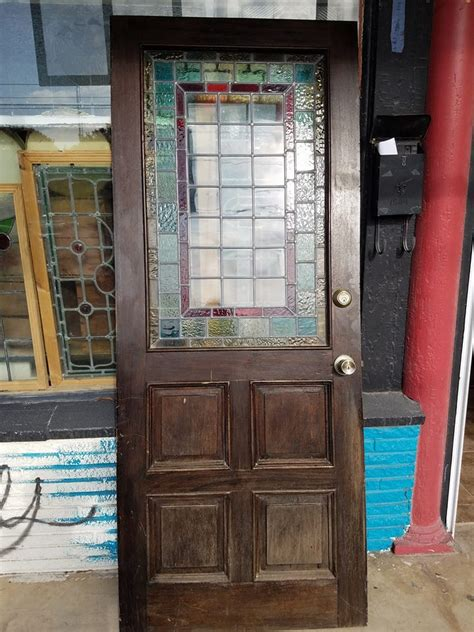 Antique Stained Glass Door Antique Stained Glass Door Antique Furniture