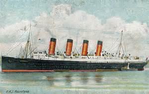 Old Ship Interior Mauretania 1 Of 1907 Cunard Line Ocean Liner Postcards