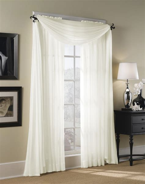 valance with sheer curtains hton sheer voile scarf valance curtainworks com