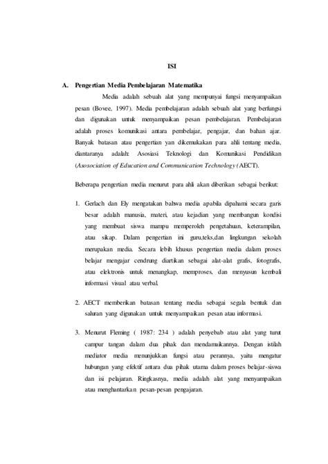 membuat makalah matematika makalah media pembelajaran matematika