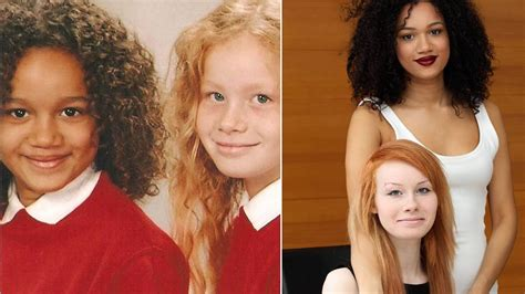 biracial different color with completely different skin colors turns heads in