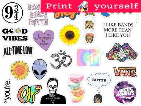 sticker printing paper officeworks set 123 mockup printable tumblr stickers stickers set of