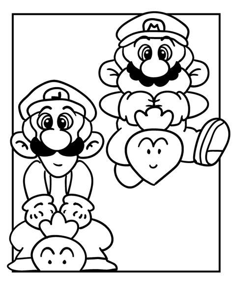 desenho do super mario para colorir e imprimir