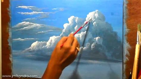 how to paint how to paint clouds in acrylic instructional painting
