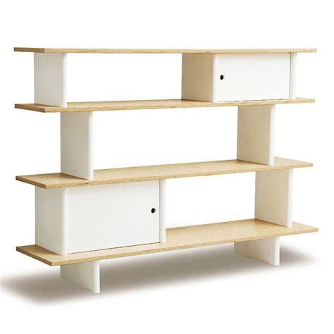 district17 mini library book shelf in birch and white
