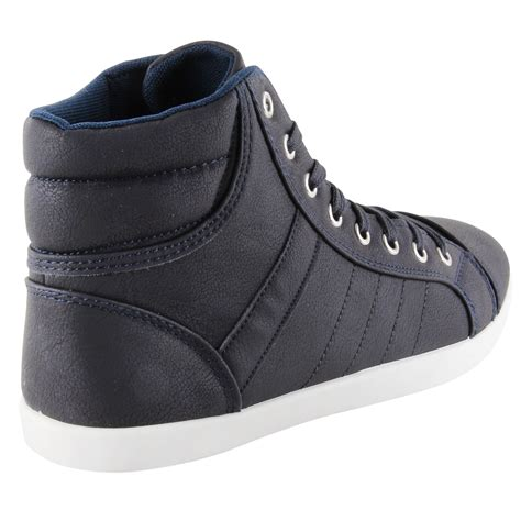 mens designer sneakers new mens designer lace up high hi top fashion trainers