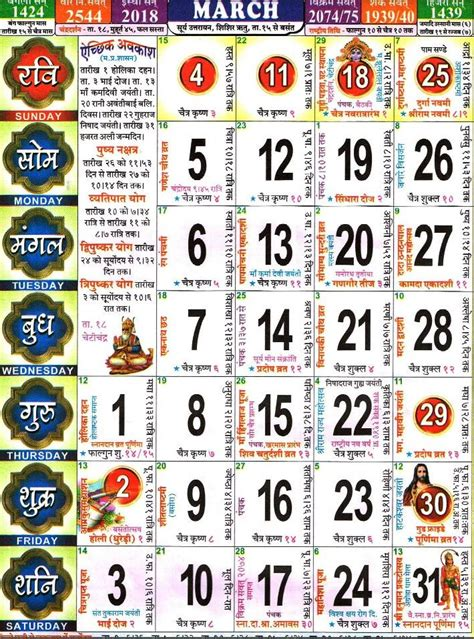 2018 Hindu Calendar April Calendar 2018