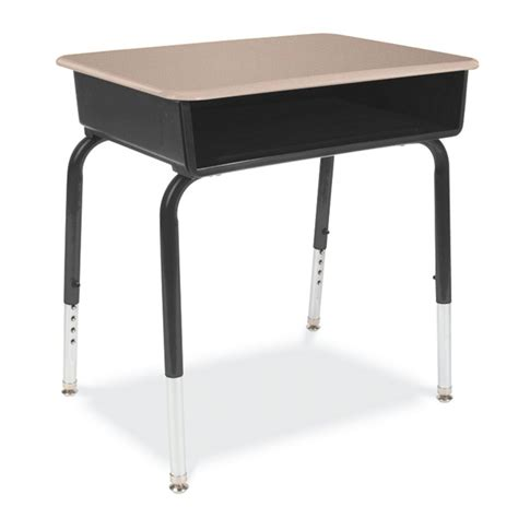Virco Desk by Virco Open Front Classroom Desk With Solid Plastic Top