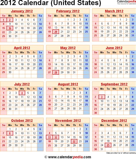 2012 Calendar With Holidays Image Gallery 2012 Federal Holidays