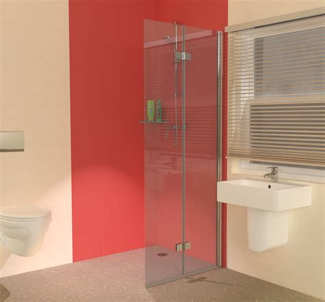 Shower Room Door Not The Colour Or Fittings Just The Folding Shower Screen Space Saving Hinged Glass Screen