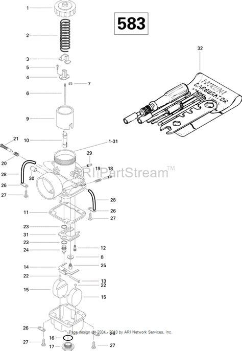 carb tune up information on 1996 583 mxz ski priming engine running