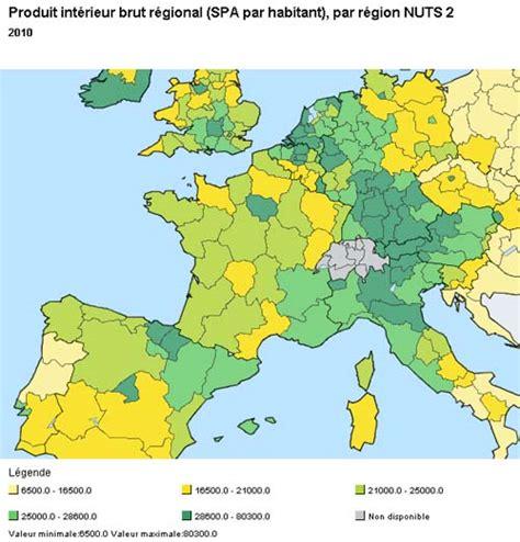 pib valeur spa par habitant et par r 233 gion fran 231 aise