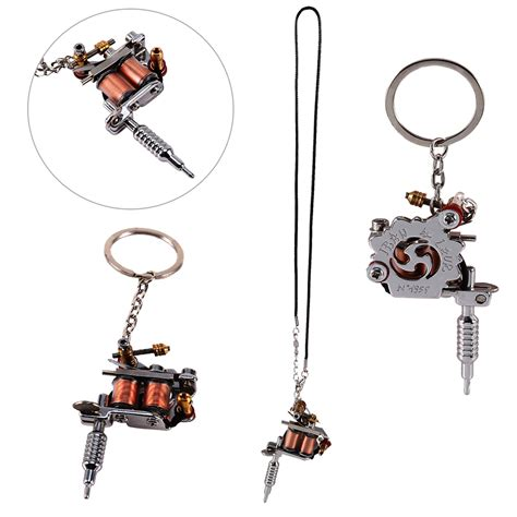 tattoo gun ornament portable mini tattoo machine tattoo supply guns keychain