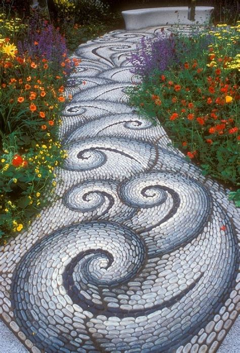 garden walkways garden path walkway ideas recycled things