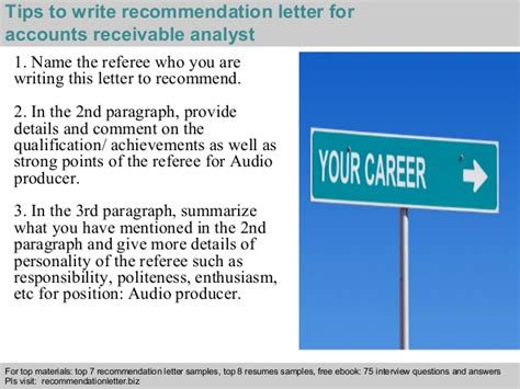 Accounts Receivable Analyst Cover Letter by Accounts Receivable Analyst Recommendation Letter