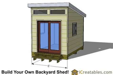 modern shed plans  studio shed plans