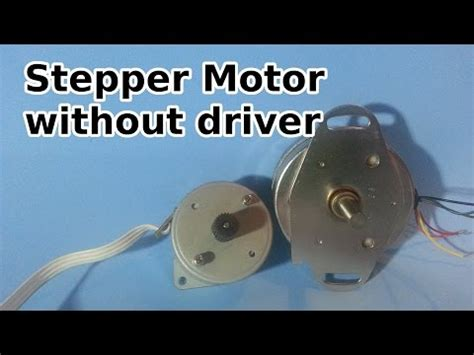 motor without capacitor stepper motor trick parallax forums