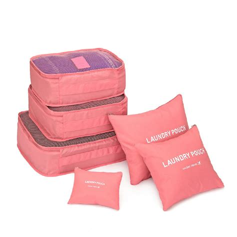 6 In 1 Traveling Bag In Bag Organizer 6 pcs set square travel luggage storage bags clothes organizer pouch x ebay