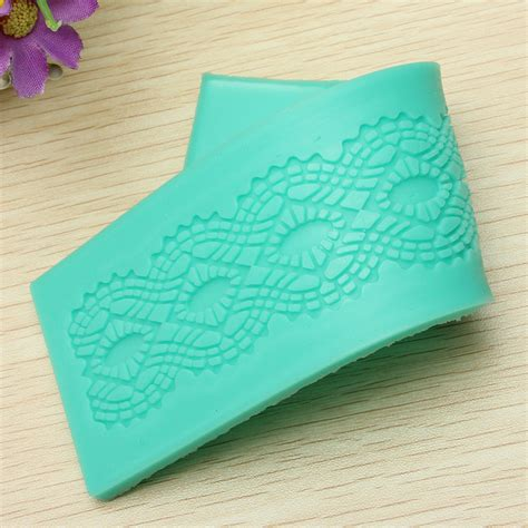 Silicone Embossing Mat by Fondant Cake Decoration Flower Lace Embossing Mold Mould