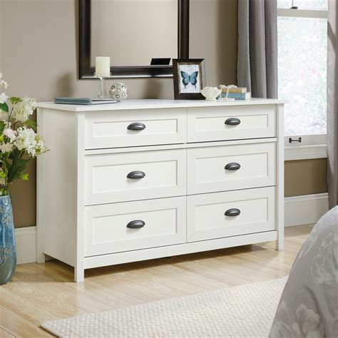 Dresser With Soft Drawers by 6 Drawer Dresser In Soft White 419461
