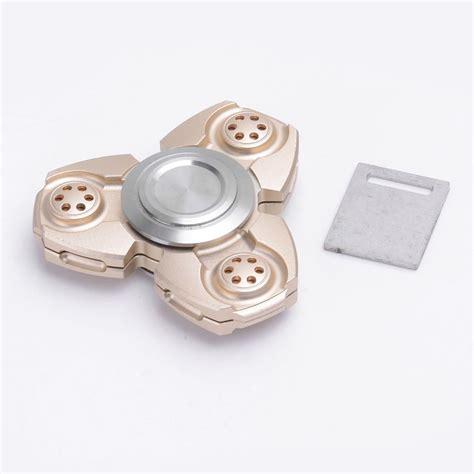 Fidget Spinner Keramik Ceramic Bearing Tri Spinner Toys 1 golden aluminum tri spinner fidget spinner focus edc