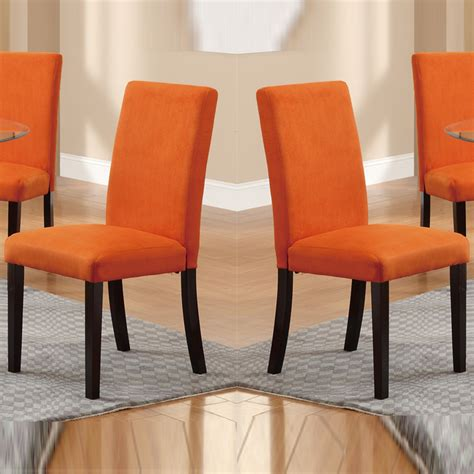 Orange Dining Room Chairs Orange Dining Room Chairs Provide Comfort And Warmth Of Your Interior Dining Chairs Design
