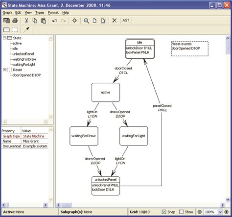 state transition diagram tool 1 6 using language workbenches domain specific languages