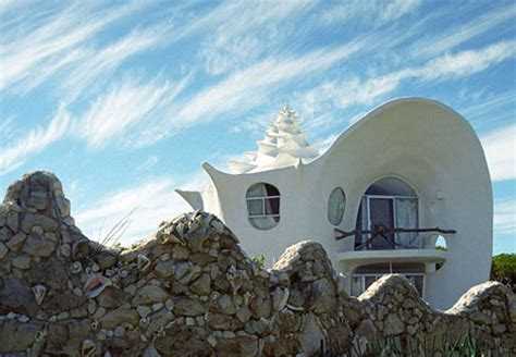 crazy house designs concrete conch spiral shell inspired fractal beach house