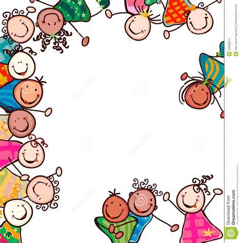 clipart bambini bambini felici illustrazione vettoriale illustrazione di