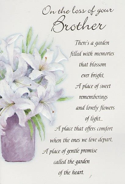 words of comfort for loss of brother sympathy quotes for loss of brother image quotes at